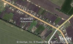 Map of  village Krasnopil