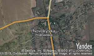 Map of  village Novokyivka