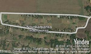 Map of  village Novokamianka