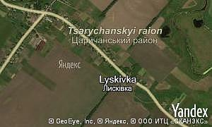 Map of  village Lyskivka