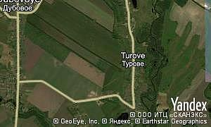 Map of  village Turove