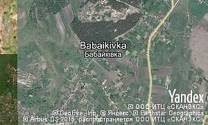 Map of  village Babaikivka