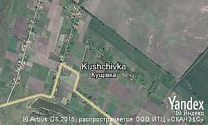 Map of  village Kushchivka