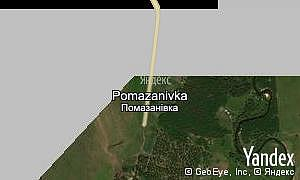 Map of  village Pomazanivka