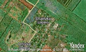 Map of  village Sharivka