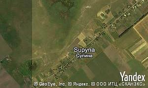 Map of  village Supyna