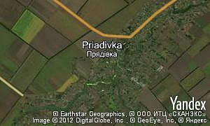 Map of  village Priadivka