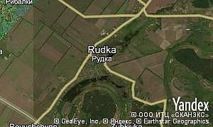Map of  village Rudka