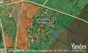 Map of  village Rybalky